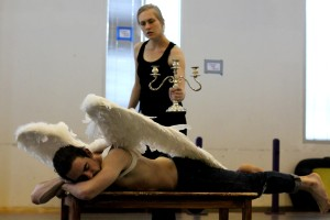 Kristin Butler as Psyche, Barrett Doyle as Eros
