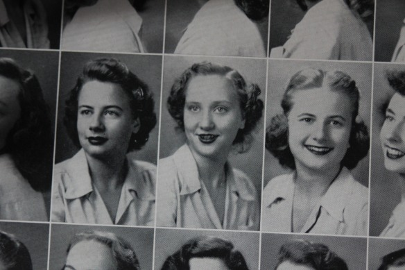 Mom (center) in her sophomore yearbook, 1946