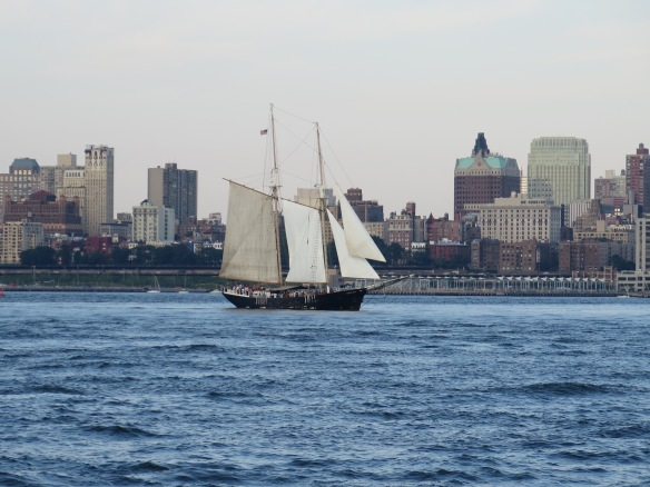 A ship on the Hudson, reminding me that journeys take many forms.